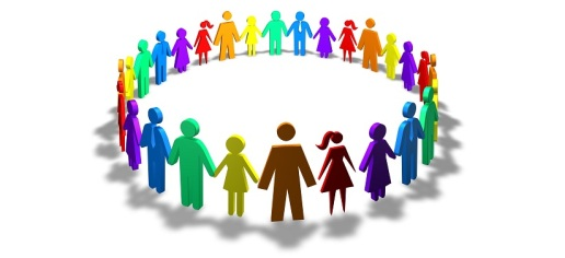 society, togetherness and diversity concept