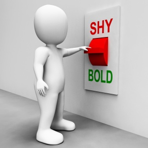 Shy Bold Switch Means Choose Fear Or Courage