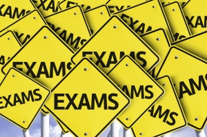 Exams written on multiple road sign