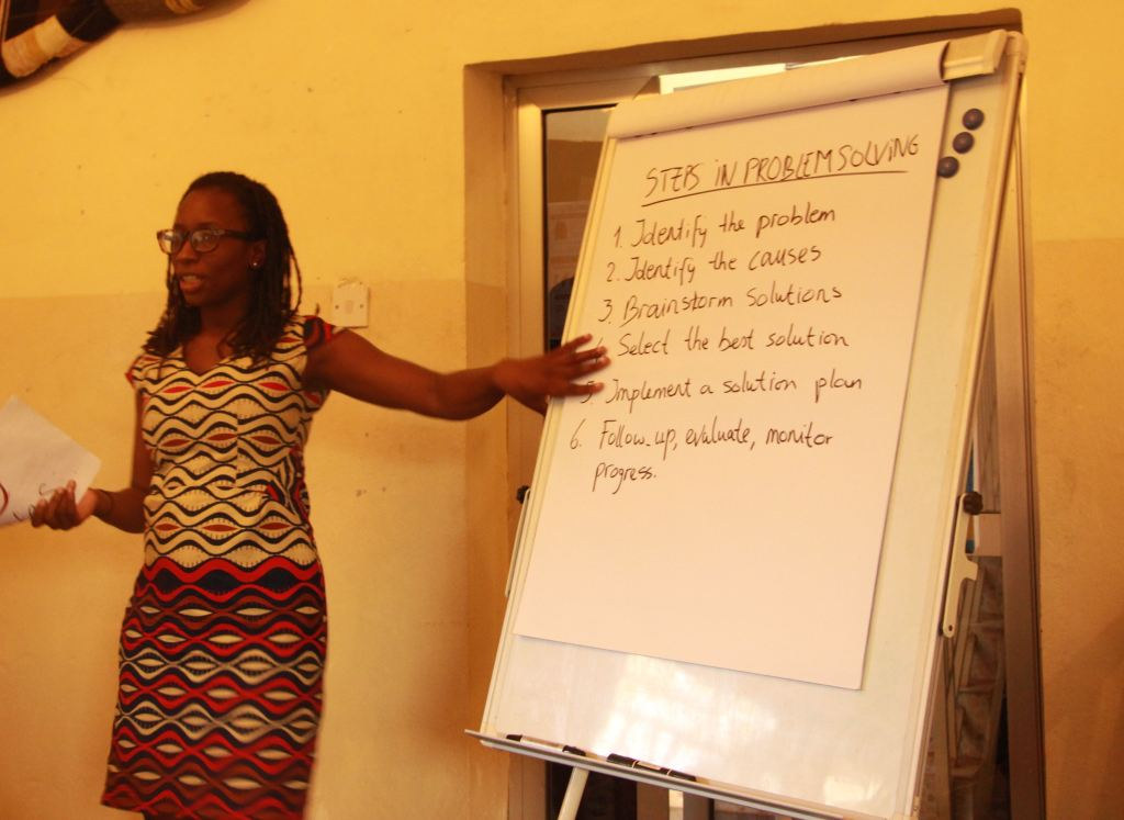 Dr Stania Kumara, King's Sierra Leone Partnership, teaching problem solving techniques