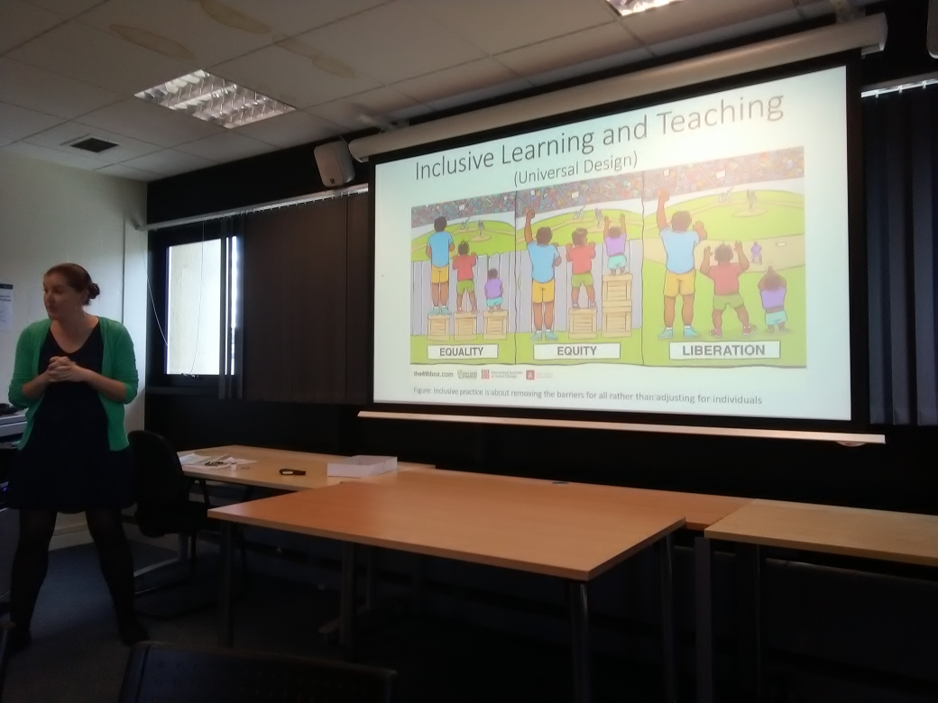 Dr Emily Brunsden presenting the Learning and Teaching Forum workshop